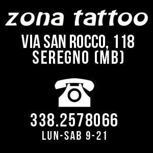 I recapiti di Zona Tattoo, lo studio di tatuaggi a Seregno