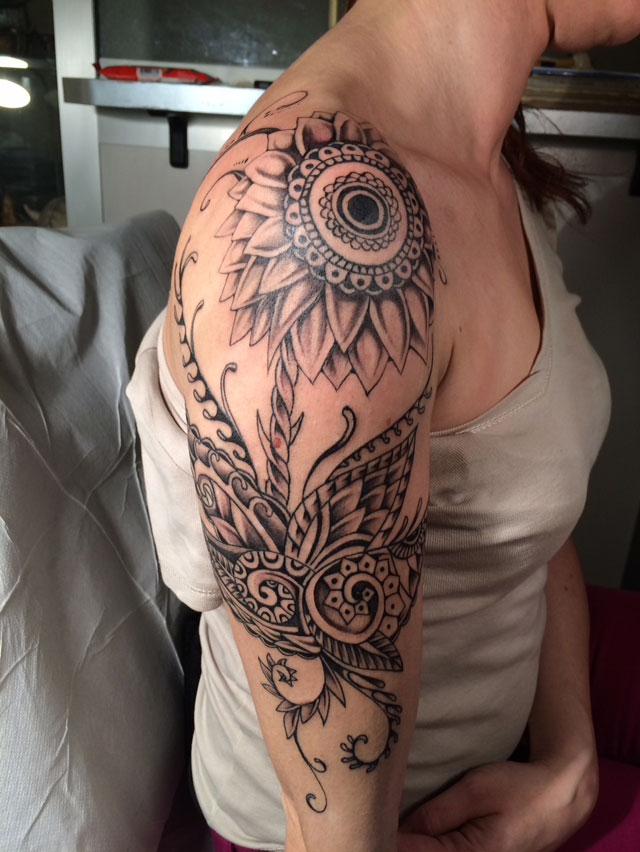 Un tatuaggio realizzato da Roberto Pozzi al Zona Tattoo di Seregno