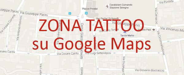 Clicca per aprire Google Maps con le indicazioni per arrivare al Zona Tattoo di Seregno
